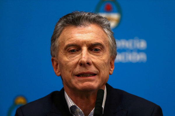 FILE PHOTO: Argentina&apos;s President Mauricio <HIT>Macri</HIT> attends a...