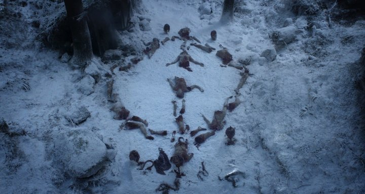 """White Walker symbol from the """"Game of Thrones"""" pilot."""