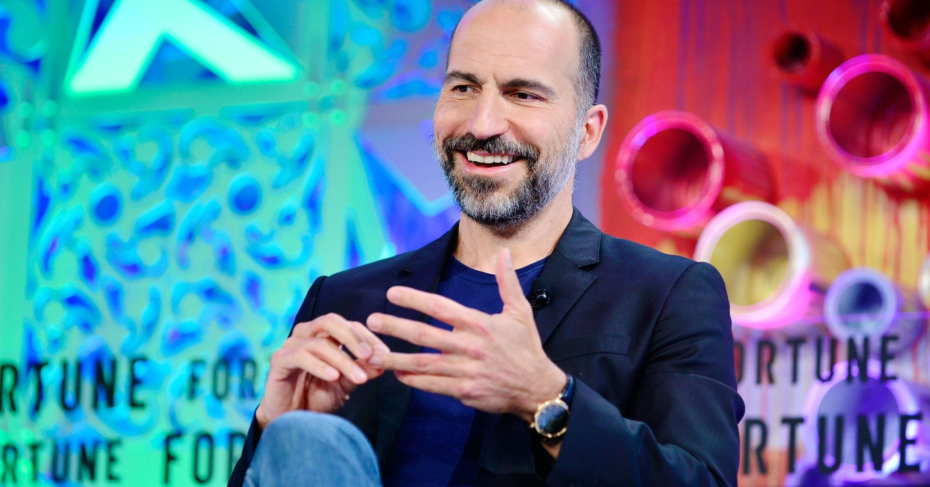 Uber CEO Dara Khosrowshahi attends the Fortune Most Powerful Women Summit in Laguna Niguel, Calif., on Oct. 3, 2018.