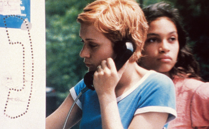 "Chloë Sevigny and Rosario Dawson in ""Kids."""