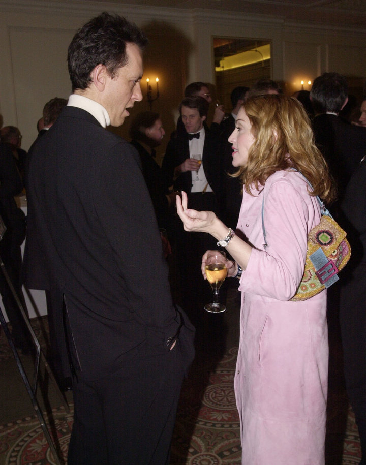 Richard E. Grant and Madonna at the Evening Standard British Film Awards in 2000.