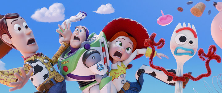 """The toys (and a spork) in """"Toy Story 4."""""""