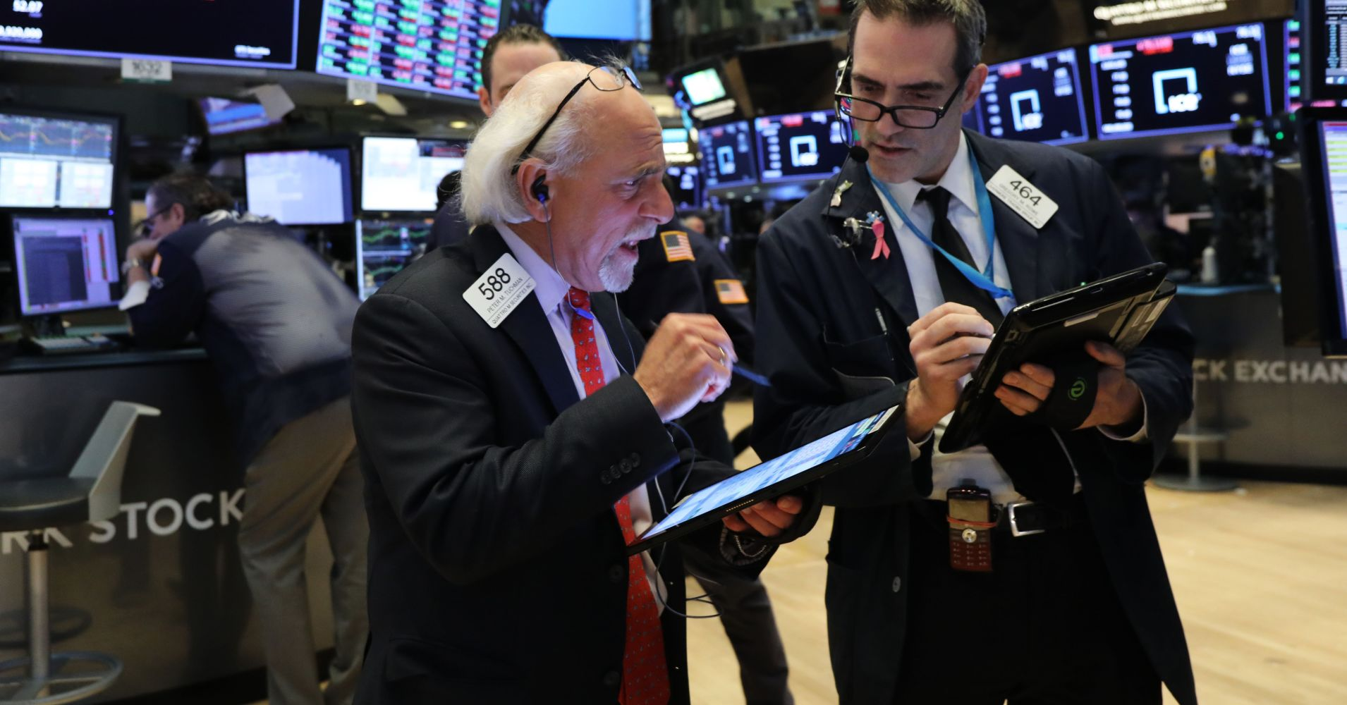 Traders work on the floor of the New York Stock Exchange (NYSE) on March 04, 2019 in New York City.