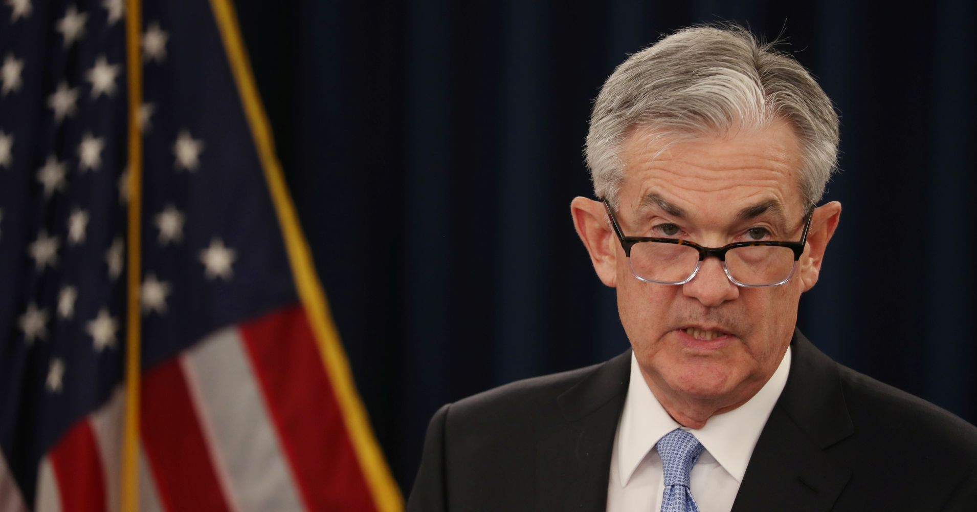 Federal Reserve Chairman Jerome Powell holds a news conference following the two-day Federal Open Market Committee (FOMC) policy meeting in Washington, U.S., March 20, 2019.