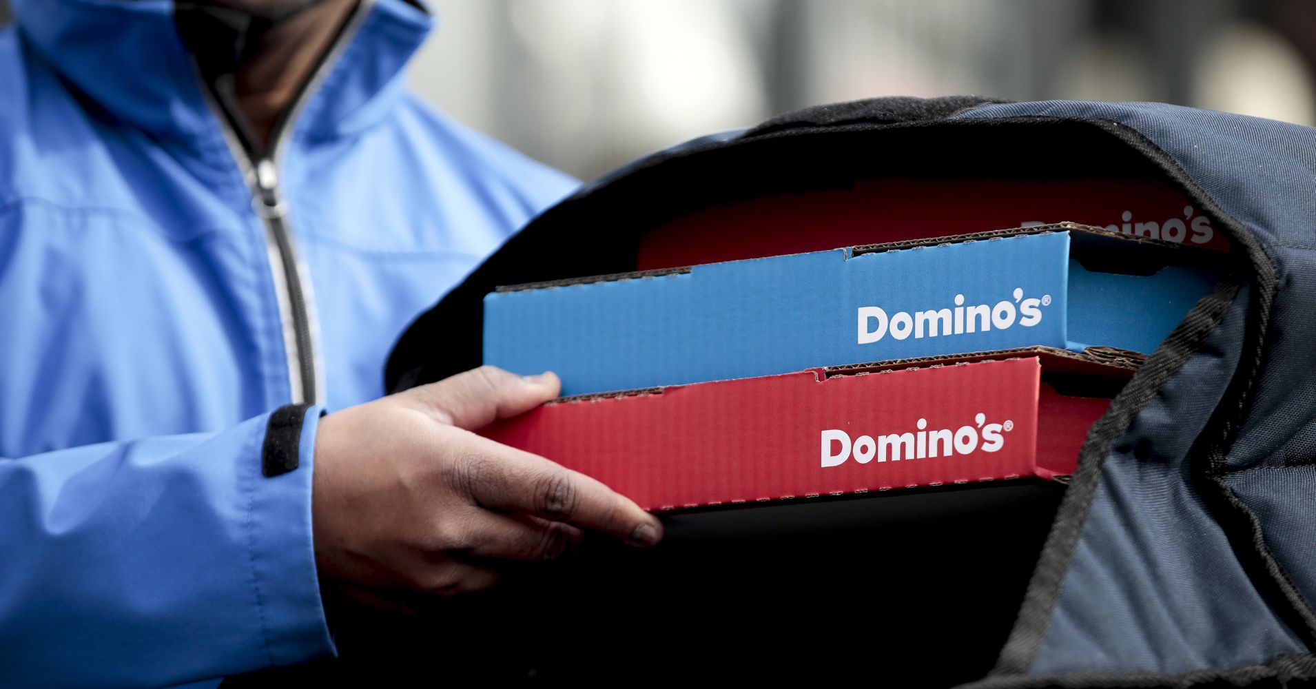 A Domino's Pizza delivery driver