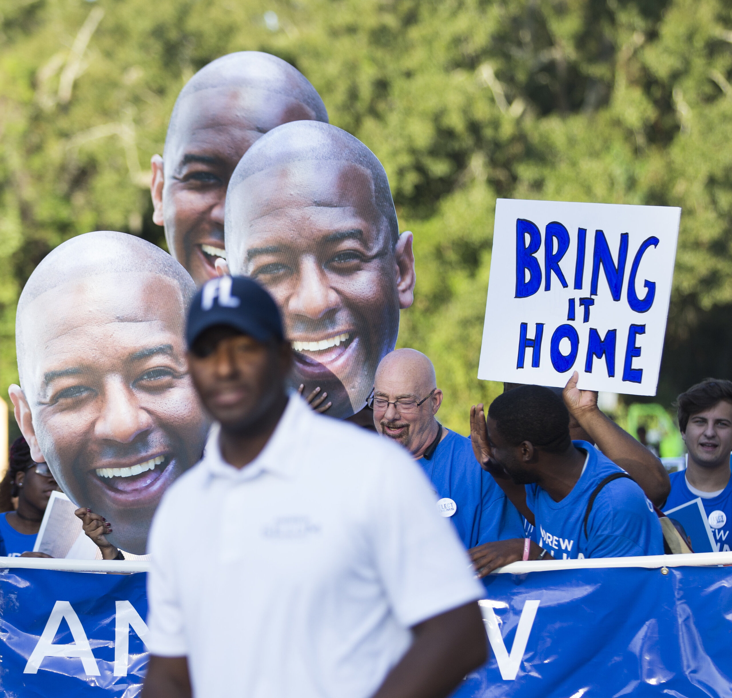 """Gillum's slogan, """"Bring it home,"""" is based in an ideal instilled in him by his maternal grandmother."""