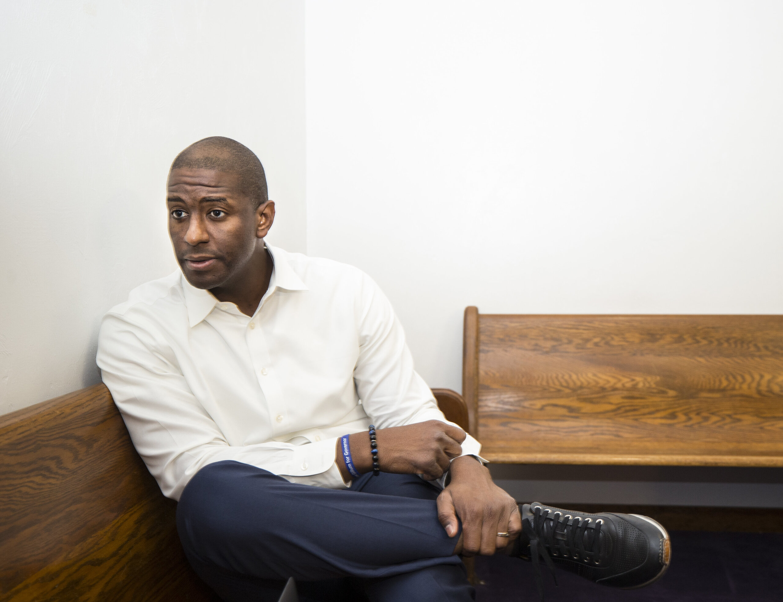 """""""I don't think people are looking for perfect. They're looking for real,"""" says Gillum."""