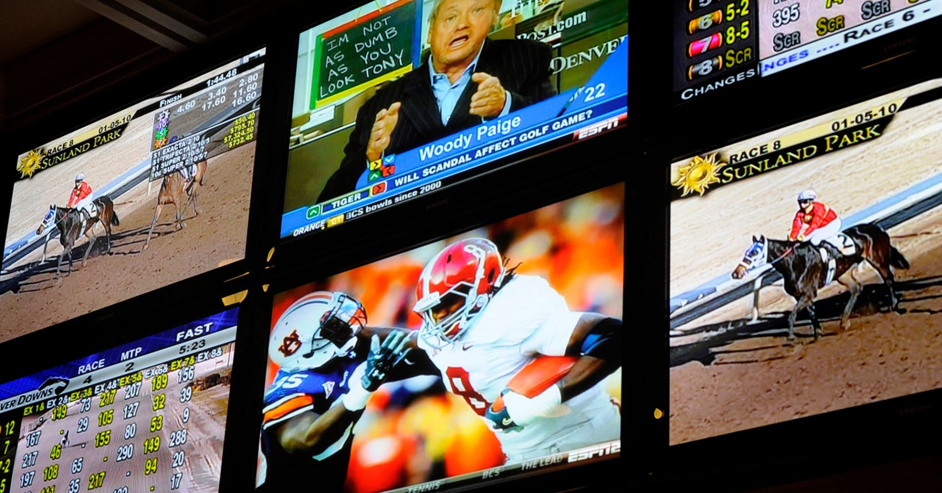 NFL playoff games joins horse racing in being legalized for wagering in the state of Delaware and gamblers took advantage of it at Delaware Park