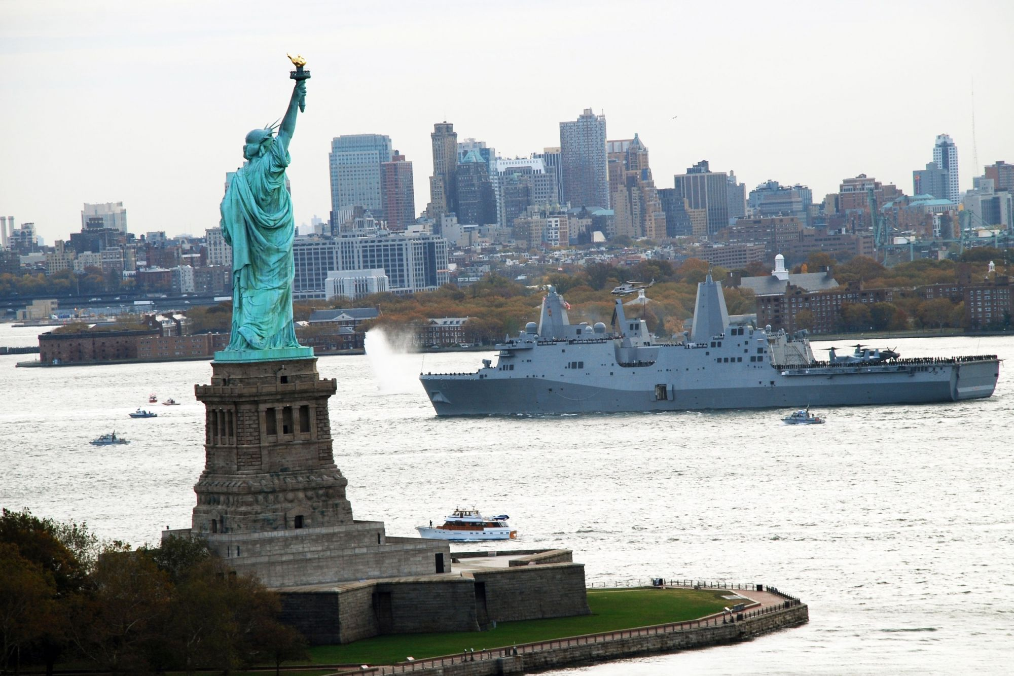 Ship Built With World Trade Center Steel Docks in Manhattan for 31st Annual Fleet Week