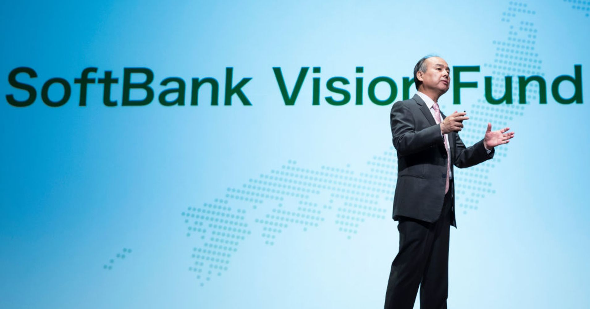SoftBank Group Corp. Chairman and CEO Masayoshi Son speaks during a press conference on May 9, 2018 in Tokyo, Japan.