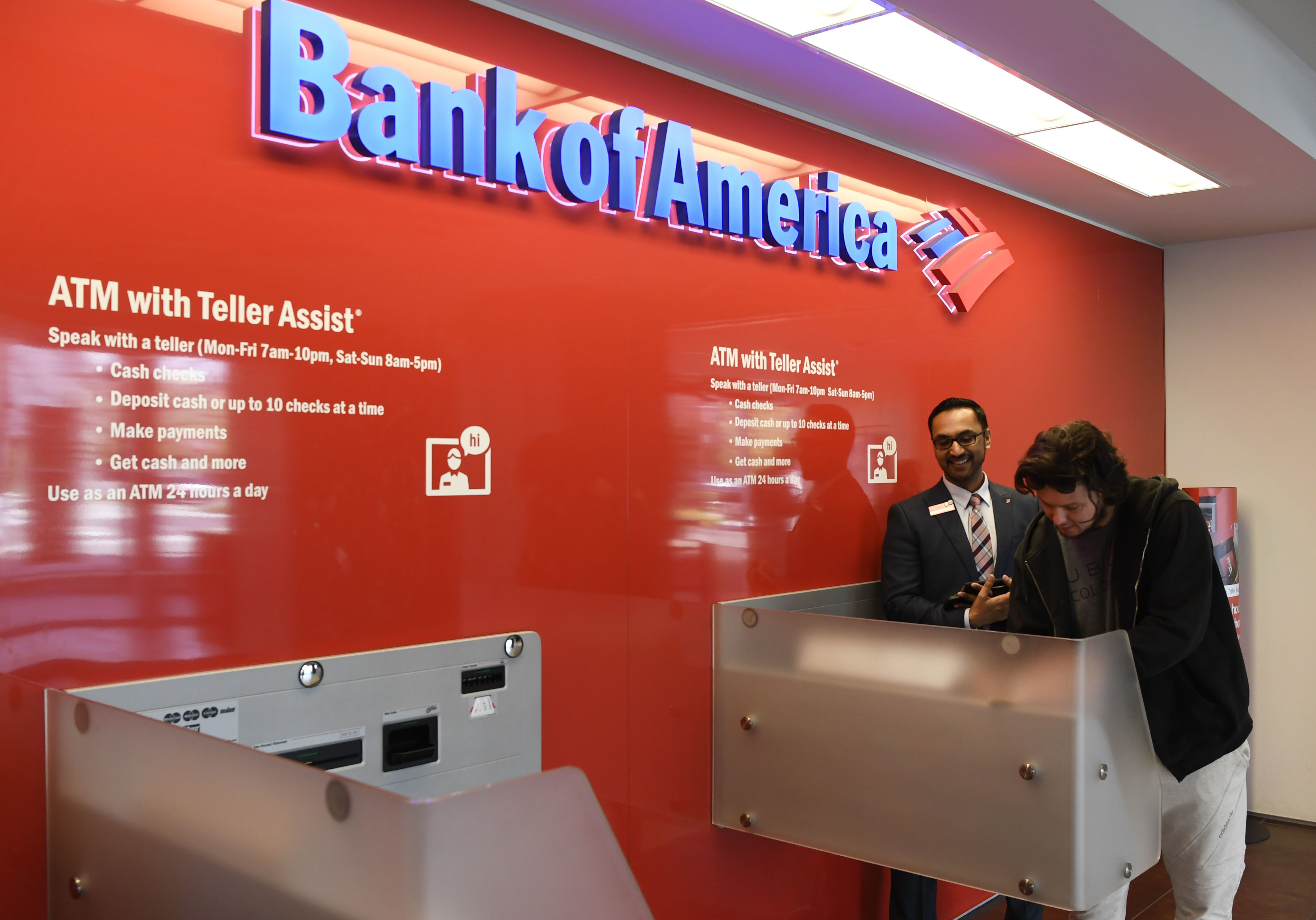 Bank of America CFO warns that lower rates will hit interest income