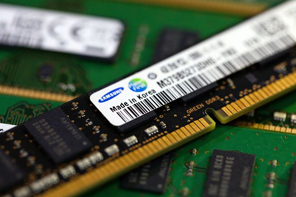 Texas Instruments leads chip stocks to record highs, a surprising move given trade war fears