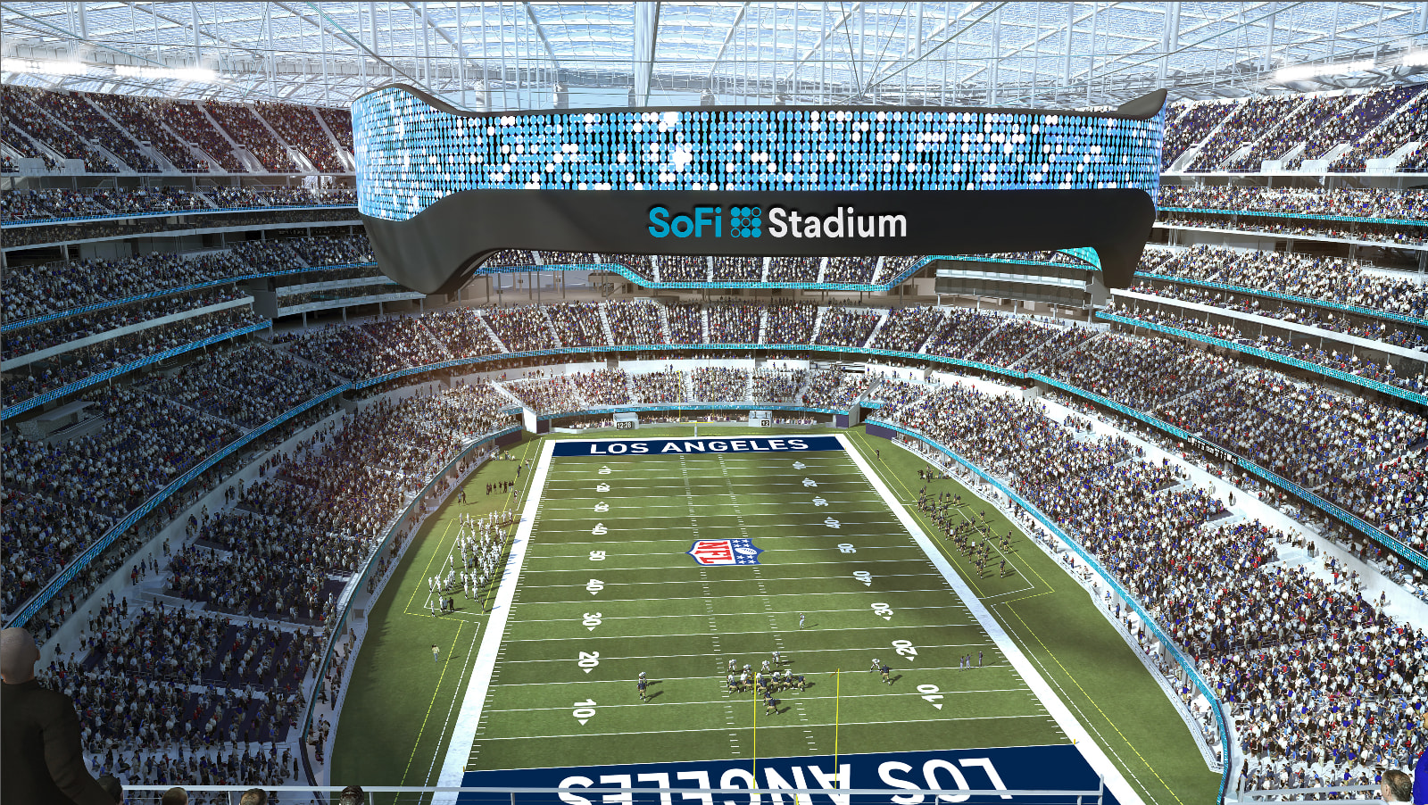 SoFi naming rights for Los Angeles stadium for the Rams and Chargers