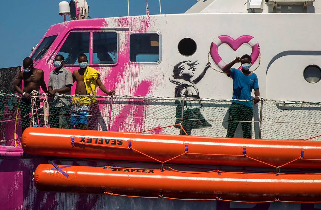 Banksy-Funded Rescue Boat Sends Calls for Help – ARTnews.com
