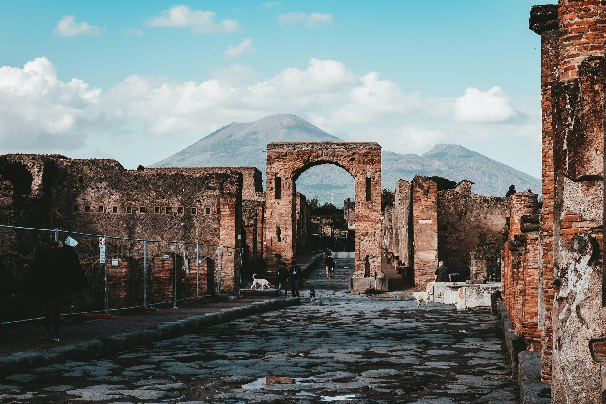 They discover in Pompeii remains of an old 'fast food' stall still with food