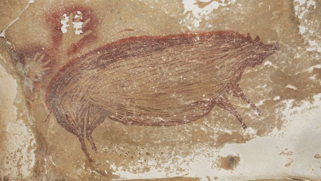 Archaeologists Claim Pig Painting in Indonesian Cave Is World's Oldest Figurative Artwork