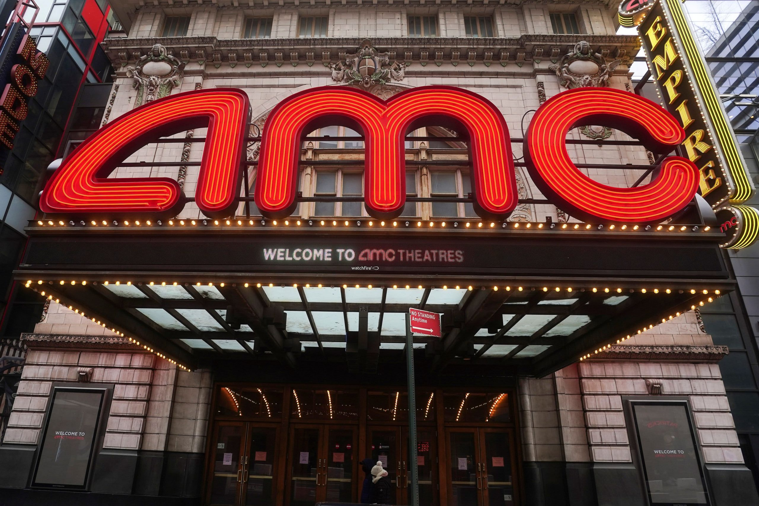 AMC stock erases a 38% rally and turns red in wild trading, but ends the week up 116%