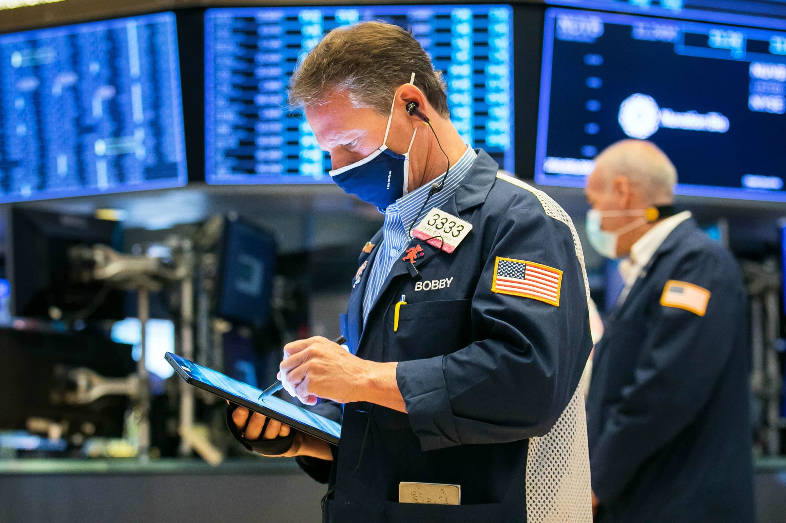Dow jumps 300 points to begin May, reopening trades gain