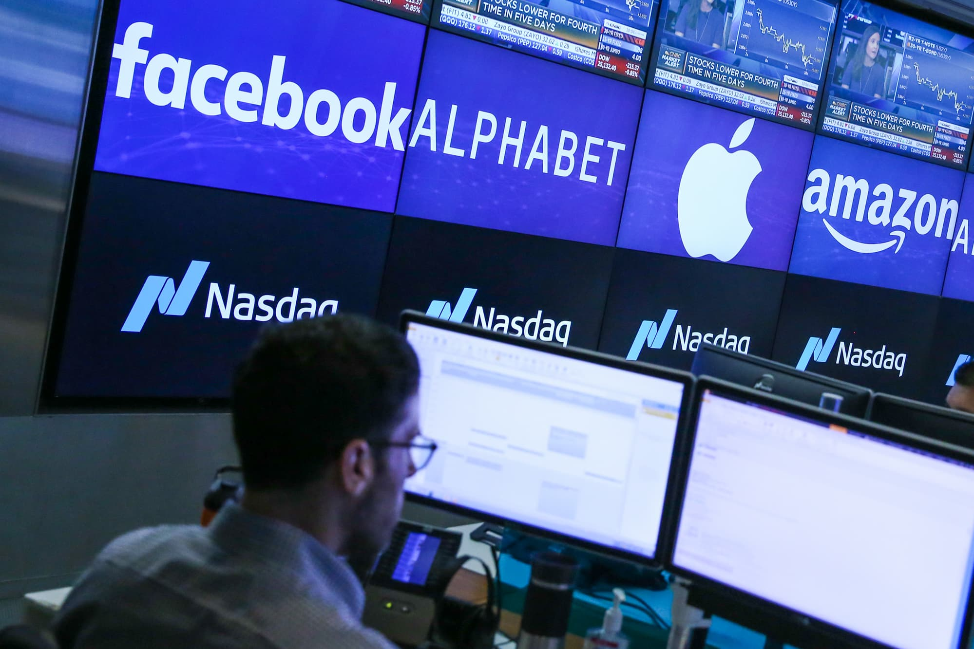 Nasdaq futures slip after a sell-off in Big Tech pushes stocks off records