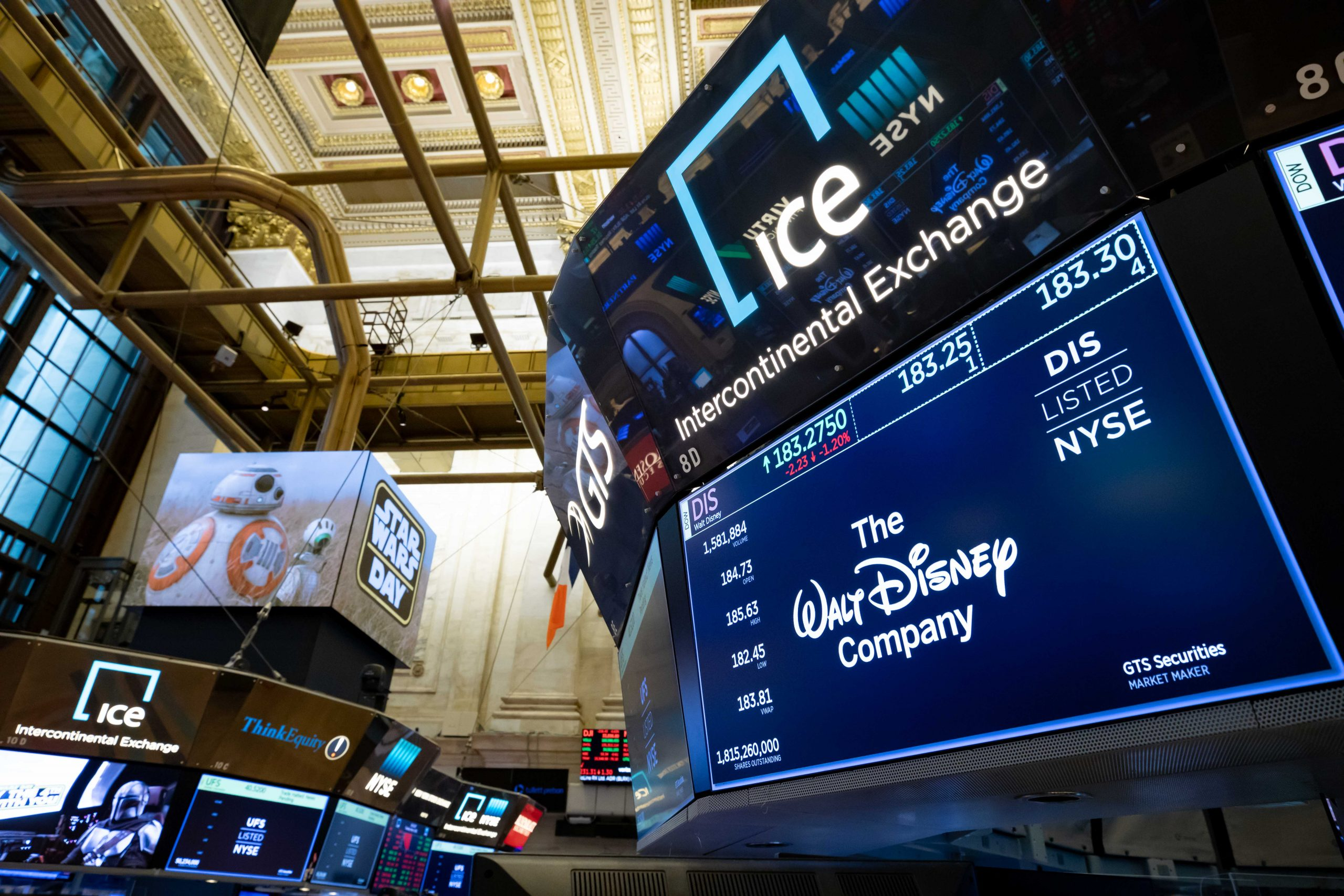 Stocks making the biggest moves midday: Disney, Snowflake, DoorDash and more