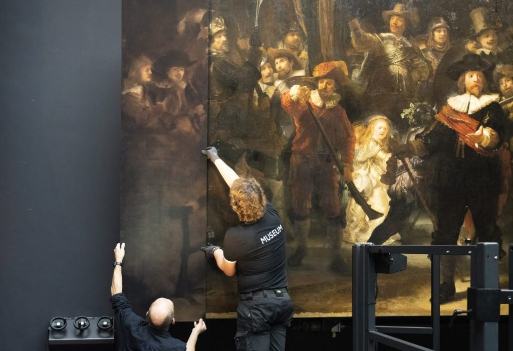 Artificial Intelligence Restores Mutilated Rembrandt Painting 'The Night Watch'