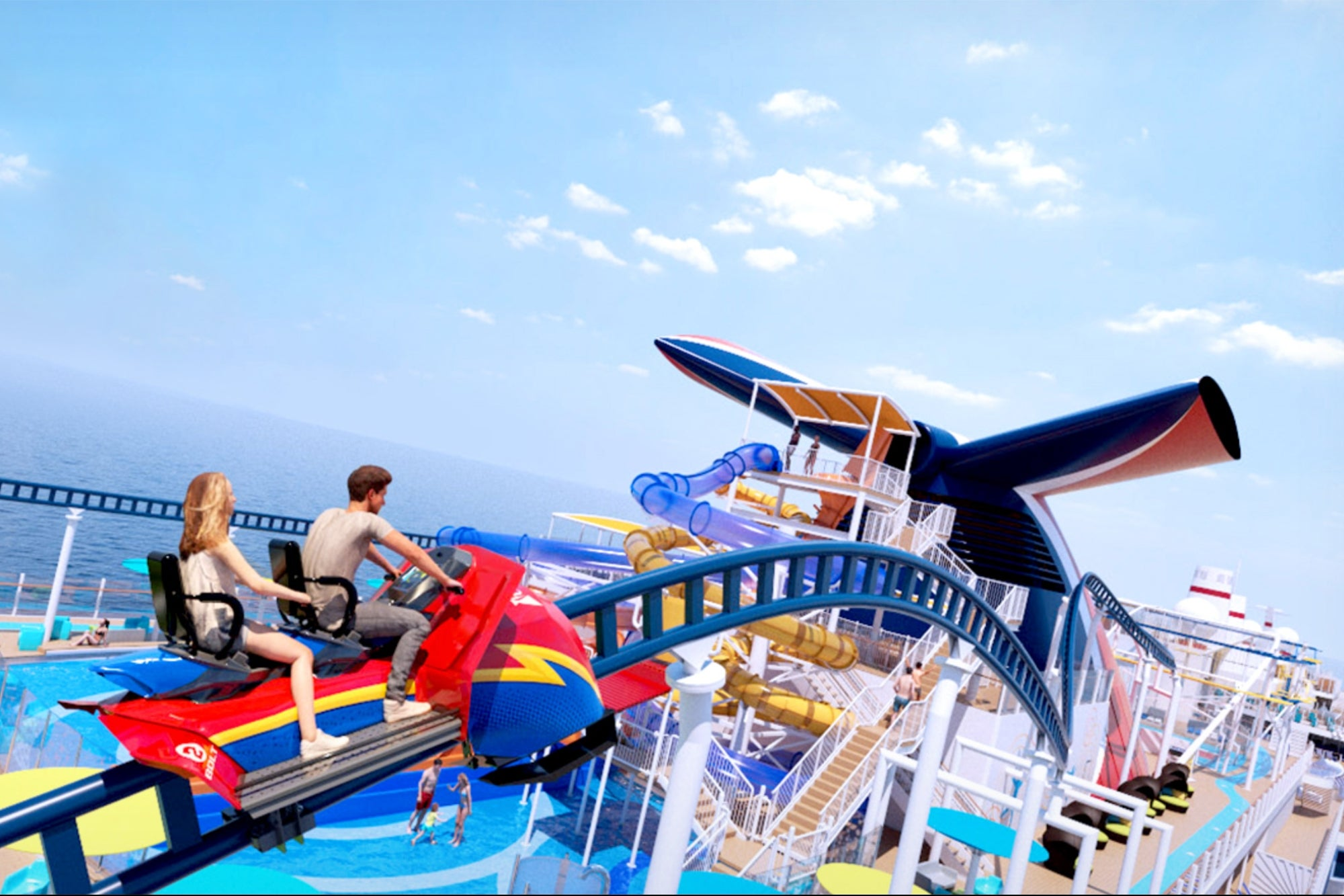 Carnival's Newest Ship, Complete with Roller Coaster, Docks at Port Canaveral