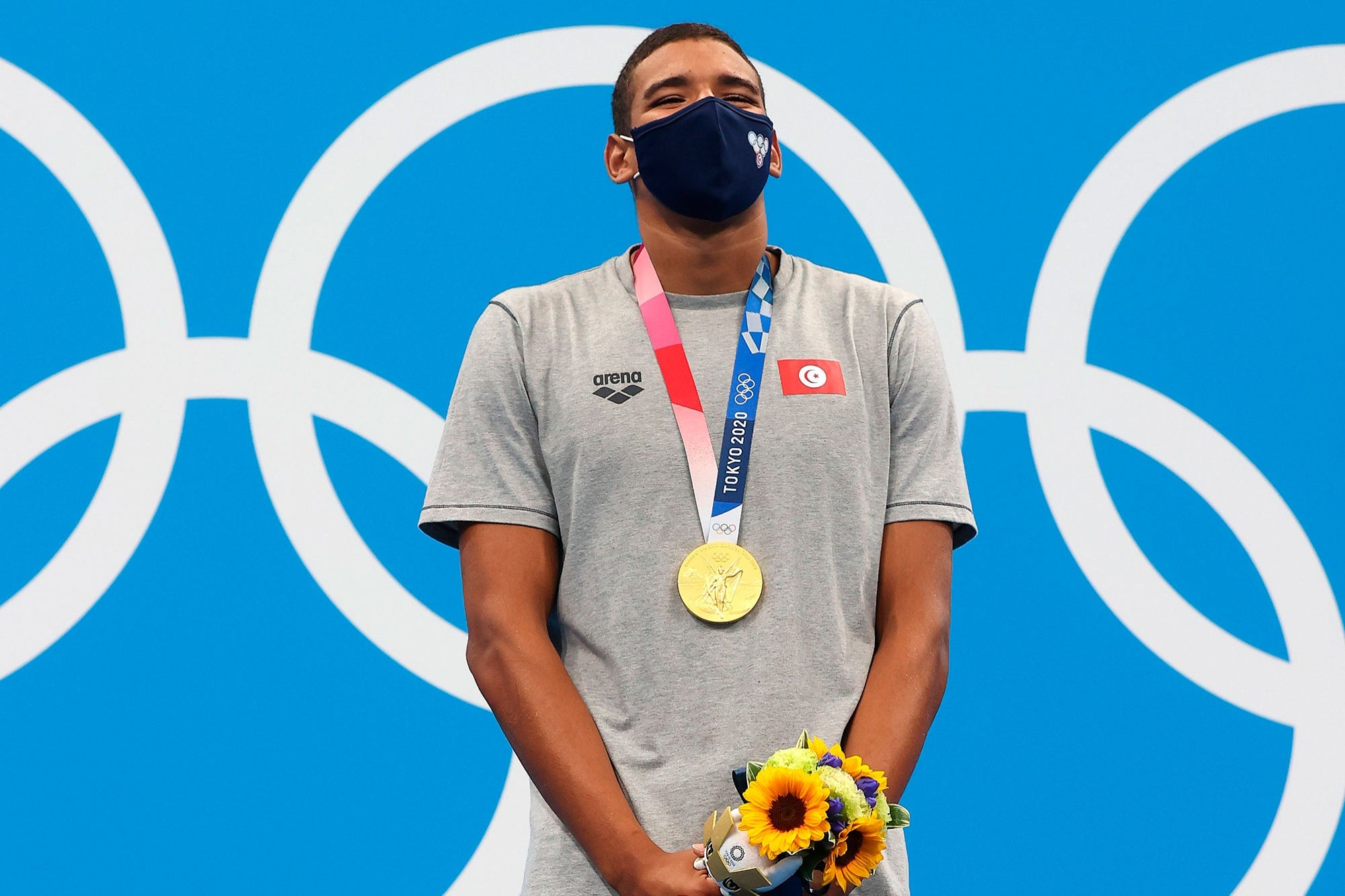 Ahmed Hafnaoui, the young swimmer from Tunisia who impressed the world by winning the gold medal at Tokyo 2020
